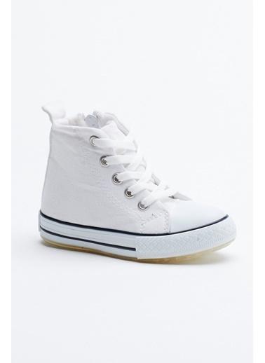 Tonny Black Beyaz Çocuk Işıklı Spor Ayakkabı Uzun Tb999 Beyaz